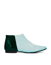 Won Hundred Elenora Colour Block Ankle Boots Green