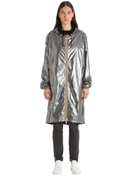 K Way Randd Xavier Silver Laminated Raincoat