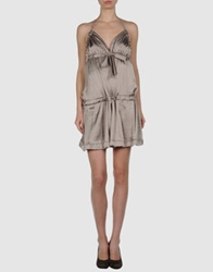 Amy Gee Short Dresses Light Grey