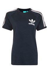 Topshop California Tee By Adidas Navy Blue