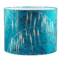 Clarissa Hulse Three Grasses Lamp Shade Kingfisher Aqua