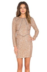 Hoss Intropia Embellished Shift Dress Beige