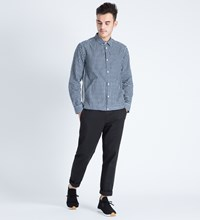 Liful Navy Gingham Mixed Shirt