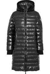 Fusalp Quilted Shell Hooded Down Coat Dark Gray