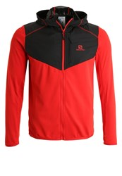 Salomon Discovery Tracksuit Top Matador Black Red