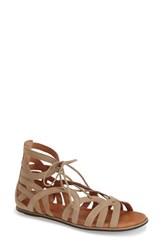 Gentle Souls Women's 'Break My Heart 3' Cage Sandal Taupe Suede