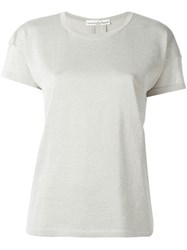 Golden Goose Deluxe Brand Varnish Effect T Shirt Nude And Neutrals