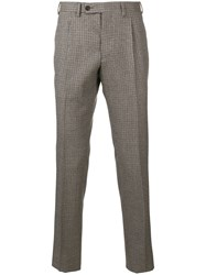 Gabriele Pasini Check Patterned Trousers Brown