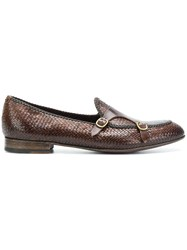 Lidfort Woven Buckled Slippers Brown