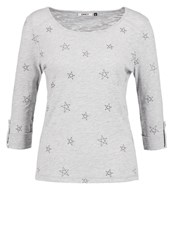 Only Onlstella Jess Long Sleeved Top Light Grey Melange Mottled Light Grey