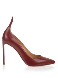 Francesco Russo Point Toe Leather Pumps Red