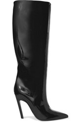 Balenciaga Patent Leather Knee Boots Black
