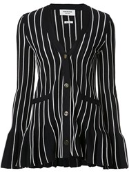 Thom Browne Flared Striped Cardigan Blue