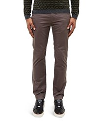 Ted Baker Printed Chino Slim Fit Trousers Gray