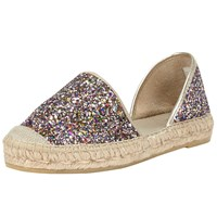 John Lewis Nola Two Part Espadrilles Glitter Multi