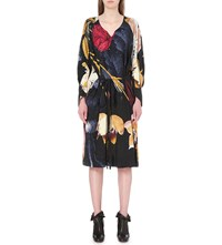 Anglomania Floral Print Wool Blend Dress Multi