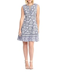 Maggy London Floral Print Dress Black White