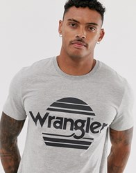 Wrangler Sunset Logo T Shirt In Grey