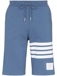 Thom Browne Striped Track Shorts Blue