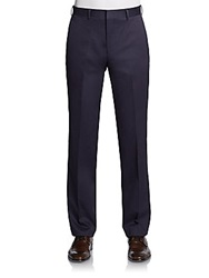 Saks Fifth Avenue Red Cotton Trousers Navy