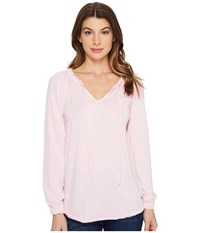 Jag Jeans Peasant Tee In Burnout Jersey Light Pink Women's T Shirt