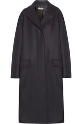 Jil Sander Fleece Wool Coat Midnight Blue