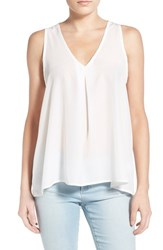Women's Painted Threads Pleated Tank