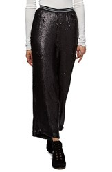 Free People Women's Just A Dreamer Sequin Crop Pants Black