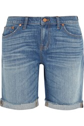 Madewell Bermuda High Rise Stretch Denim Shorts Blue