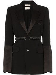 Bottega Veneta Belted Detail Blazer Black