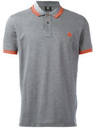Paul Smith Ps By Contrast Stripe Polo Shirt Grey