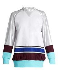 No Ka' Oi Wela Oversized Colour Block Sweatshirt White Multi