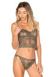 Only Hearts Club So Fine Lace Cami Olive