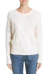Burberry Women's Mixed Stitch Wool And Cashmere Sweater