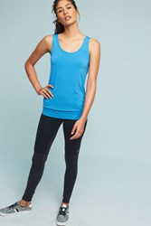 Anthropologie Sleek Stripe Breezy Tank Blue