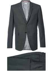 Thom Browne Two Pieces Classic Suit Cupro Wool Grey
