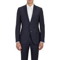 Band Of Outsiders Pin Dot Stripe Schoolboy Blazer Navy