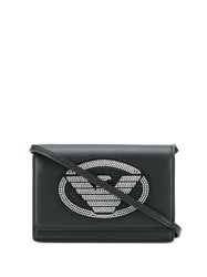 Emporio Armani Studded Logo Crossbody Bag Black
