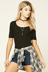 Forever 21 Ribbed Knit Back Cutout Top