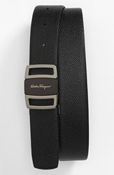 Men's Big And Tall Salvatore Ferragamo Reversible Leather Belt Black Brown