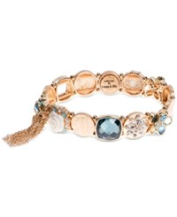 Lonna And Lilly Gold Tone Multi Crystal Link Bracelet
