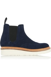 Grenson Alice Suede Ankle Boots Blue