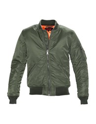 Schott Flight Satin Souvenir Jacket Sage Green