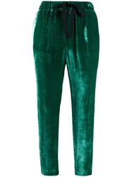 Semicouture Cropped Elasticated Trousers 60
