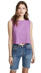 Agolde Cropped Muscle Tee Luna