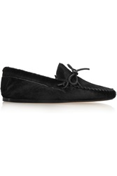 Isabel Marant Etoile Fodih Leather Trimmed Calf Hair Loafers