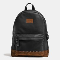 Coach Rip And Repair Campus Backpack In Polished Pebble Leather Bk Black Mahogany
