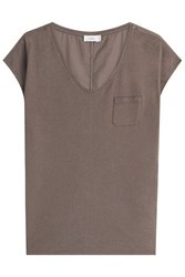 Closed Cotton T Shirt Brown