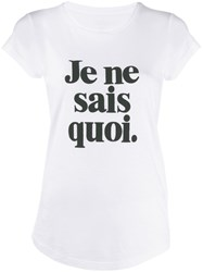 Zadig And Voltaire Slogan Print T Shirt White