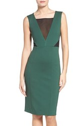 French Connection Women's Lulu Body Con Dress Pine Forest Green